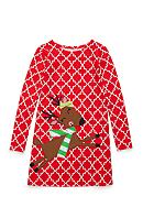 J. Khaki® Reindeer Dress Toddler Girls