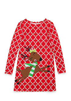 J. Khaki Reindeer Dress Toddler Girls