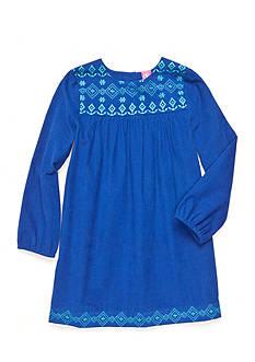 J. Khaki Triangle Trim Corduroy Dress Toddler Girls