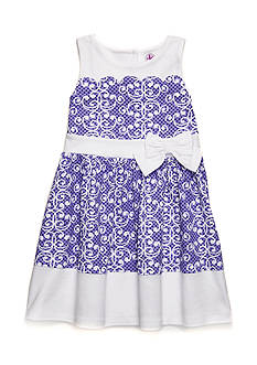 J. Khaki Scallop Scroll Dress Girls 2T-4T