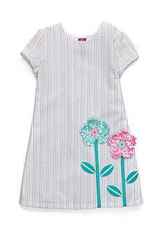 J. Khaki Rainbow Seersucker Dress Toddler Girls