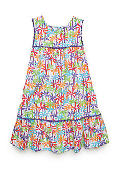 J. Khaki® Palm Print Dress Toddler Girls