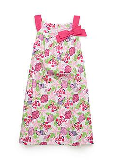 J. Khaki Seashell Dress Toddler Girls