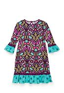 J. Khaki® Fern Print Dress Toddler Girls
