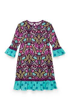 J. Khaki Fern Print Dress Toddler Girls