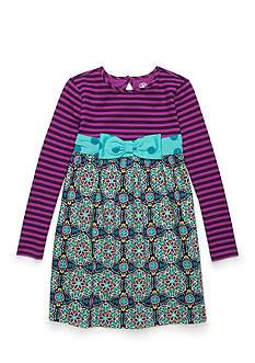 J. Khaki Mixed Media Dress Toddler Girls