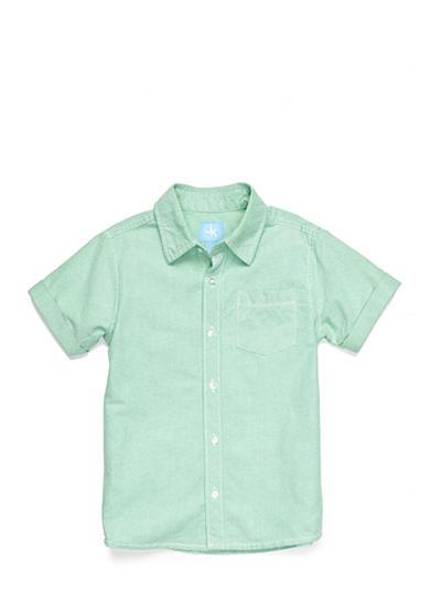 J khaki oxford button front shirt toddler boys belk for Khaki button up shirt