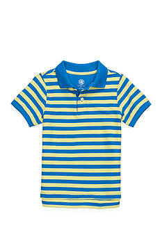 J. Khaki Stripe Pique Polo Toddler Boys