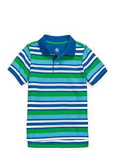 J. Khaki Short Sleeve Stripe Pique Polo Toddler Boys