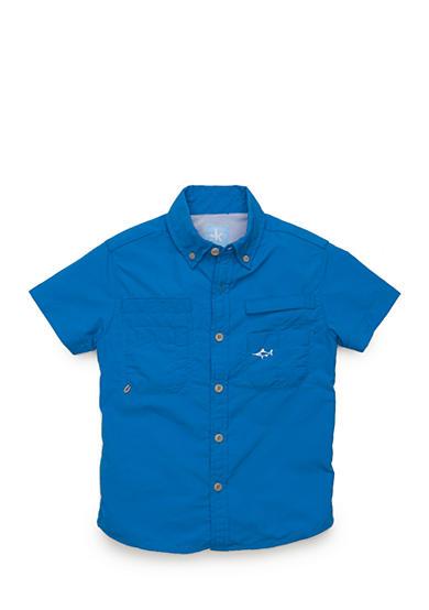 J khaki fishing button front shirt toddler boys belk for Baby fishing shirts