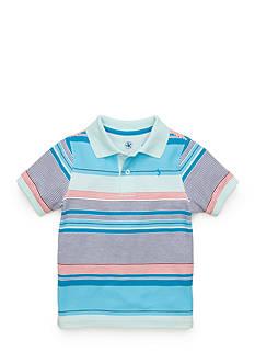 J. Khaki Stripe Pique Polo Toddler Boys