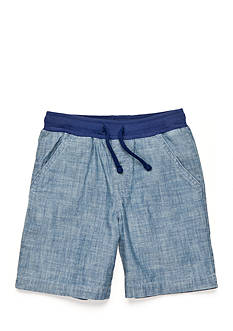 J. Khaki Pull On Chambray Shorts Toddler Boys