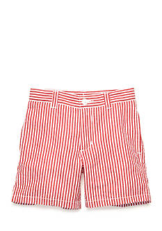 J. Khaki Seersucker Shorts Toddler Boys
