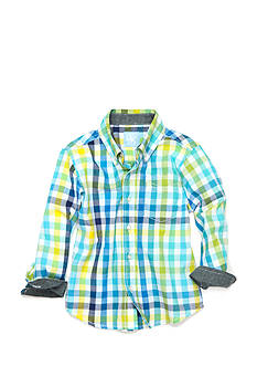 J. Khaki Plaid Woven Shirt Toddler Boys