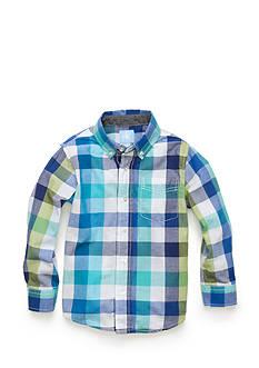 J. Khaki Long Sleeve Woven Shirt Toddler Boys