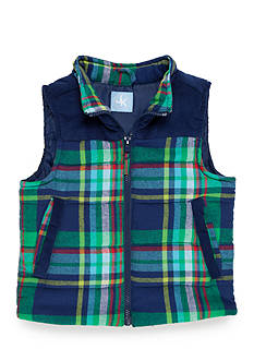 J. Khaki Flannel Puffer Vest Toddler Boys