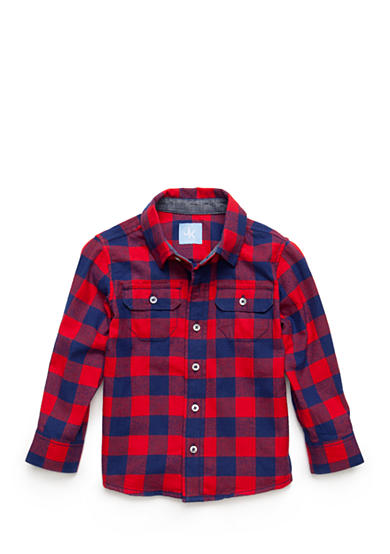 J. Khaki® Gingham Button-Front Flannel Shirt Toddler Boys