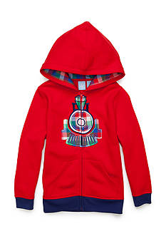 J. Khaki Train Novelty Hoodie Toddler Boys
