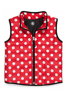 J. Khaki Polka Dot Vest Toddler Girls