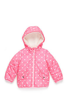 Carter's Polka Dot Puffer Coat Toddler Girls
