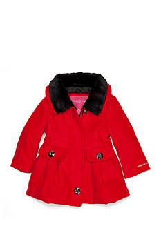 London Fog Red Dress Coat Infant Girls