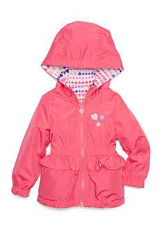 London Fog Heart Print Reversible Jacket