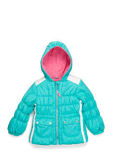 London Fog Colorblock Puffer Coat Toddler Girls