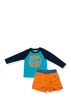OshKosh B'gosh 2-Piece Surf Dude Rashguard Set Toddler Boys