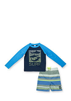 OshKosh B'gosh 2-Piece Shark Rashguard Set Toddler Boys