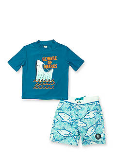OshKosh B'gosh 2-Piece Beware Rashguard Set Toddler Boys