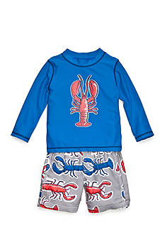Carter's® 2-Piece Lobster Swim Set Toddler Boys