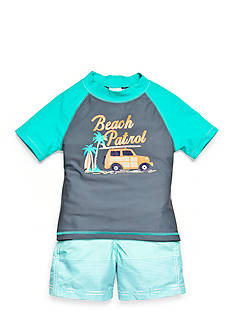 Carter's® 2-Piece 'Beach Patrol' Swim Set Toddler Boys
