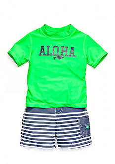 Carter's® 2-Piece 'Aloha' Swim Set Toddler Boys