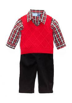 Good Lad Red 3PC Vest Set Infant/Baby Boys