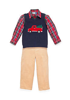 Good Lad Truck Applique Sweater Set Toddler Boys