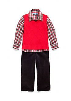 Good Lad Cable Sweater Vest Set Toddler Boys