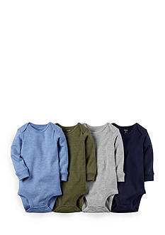 Carter's® 4-Pack Assorted Heathered Bodysuits