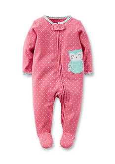 Carter's® Graphic Owl Polka Dot Footed Pajamas