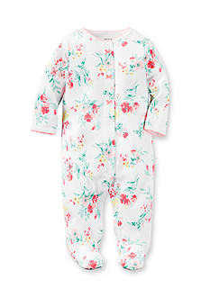 Carter's® Infant White Large Floral 1-Piece Footed Pajamas