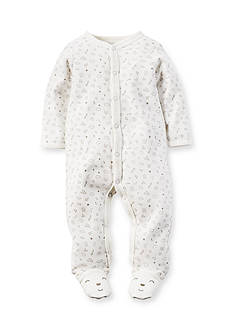 Carter's Newborn Ivory Bear 1-Piece Footed Pajamas