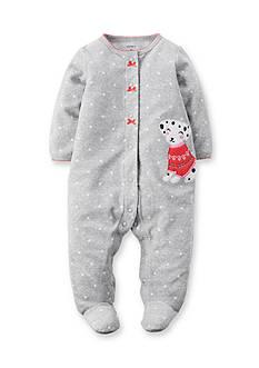Carter's Fleece Dalmation Snap-Up Sleep & Play