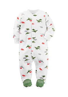 Carter's Dino Print 1-Piece Footed Pajama