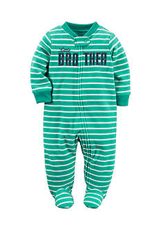 Carter's 'Little Brother' Striped 1-Piece Footed Pajama