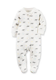 Carter's® Newborn Elephant & Star Print Footed Sleep & Play