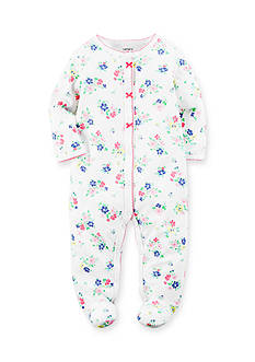 Carter's Floral Cotton Snap-Up Sleep & Play