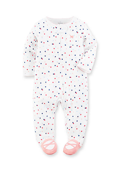 Carter's® Polka Dot Cotton Snap-Up Sleep & Play