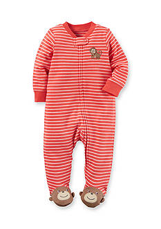 Carter's Monkey Cotton Zip-Up Sleep & Play