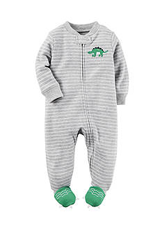 Carter's Stripe Dinosaur Footed Pajamas