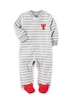 Carter's Terry Zip-Up Footed Sleep And Play