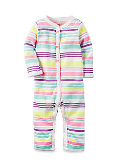 Carter's Pastel Striped Snap-Up Sleep & Play